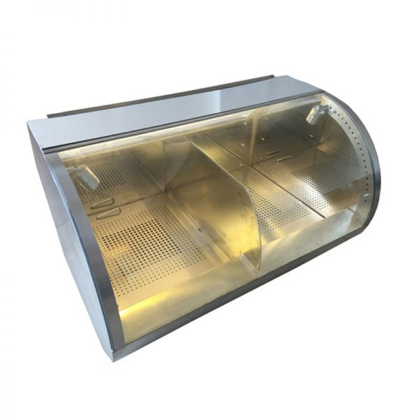 """39""""-Curved-Counter-Popcorn-Warmer-and-Staging-Cabinet"""